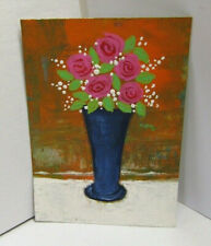ACEO Original Miniature Painting, TODAY'S ROSES #2, Mixed Media