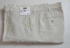$89 New Jos A Bank JOSEPH ABBOUD Linen flat front shorts in solid Stone tan 40 W