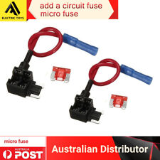 2 x Add a Circuit ACU Piggy Back Tap Micro Blade Fuse Holder 10A AU Local post