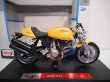 Moto jaunes avec support
