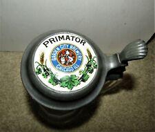 Primator beer Pre-Proh porcelain lidded stein Garden City Brewery Chicago