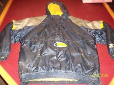 Vintage Michigan Wolverines Starter Pull-Over W/ Hood Half Zip Men's Size XL