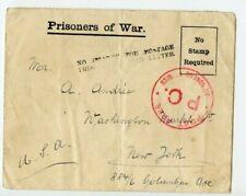 Vintage Envelope WWII Era Prisoner of War Envelope to New York from Isle of Man