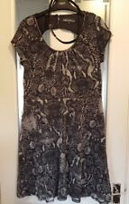 bnwot sz 14 silver grey dress dp sparkle belt back detail stretchy