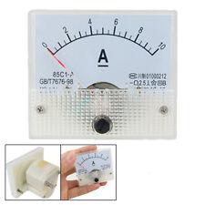 85C1 DC Pannello 0-10A amperometro analogico rettangolo Gauge HK