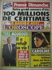 AFFICHE PROMO FRANCE DIMANCHE CAROLINE DE MONACO+