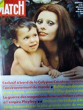 PARIS MATCH N° 1231 LOREN COUSTEAU CALYPSO PEINE DE MORT BUFFET PLAYBOY 1972