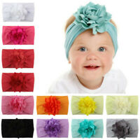 Lovely Girls Baby Toddler Turban Solid Headband Flower Hair Accessories Headwear