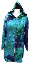 Jordash Bohemien Ricamato in Velluto Blu Mare Giacca con cappuccio verde Freesize 12-16