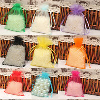 25/100xLot Organza Wedding Xmas Gift Candy Wrap Bags Jewelry Pouch Mixed Colors