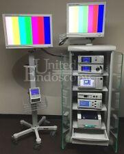 Stryker 2 Head 1288 Hd Video Arthroscopy Tower System Endoscope Endoscopy