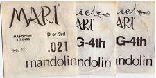 "Mandolin Strings, ""Daniel Mari""  Wound Single 3rd & 4th Strings, 3 Pack"