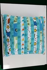 New listing Handcrafted Soft Flannel Pillow - Designs In Blue, Pastels #5685