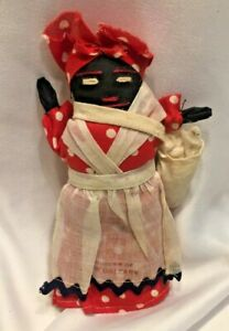 Vintage Black Americana Doll New Orleans Souvenir 7'' Cloth Stuffed