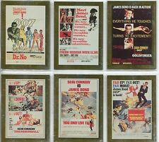 James Bond Connoisseurs Collection Volume 1 Complete Metalworks Card Set P1-6