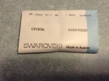 Swarovski vintage 144 navettes cristal 15x7mm à sertir
