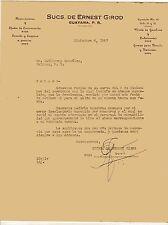 VINTAGE COMMERCIAL LETTER / SUCS DE ERNEST GIROD / GUAYAMA PUERTO RICO 1947