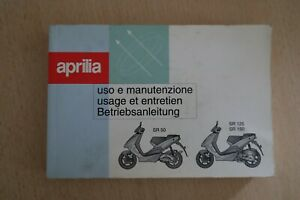 Betriebsanleitung / Handbuch Aprilia SR 50 SR 125 150 Roller - Ausgabe 1999