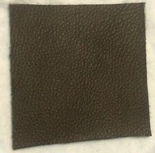 New listing Dark Brown Leather Scrap (1) Size 4 x 4 Square Soft Leather