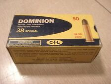 Vintage EMPTY CIL Dominion 38 SPECIAL SHELL BOX Center Fire Cartridge Montreal 3