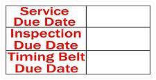 10 X Quantité 70 X 35MM Service/Inspection/Ceinture Due Date Sticker Hgv Taxi