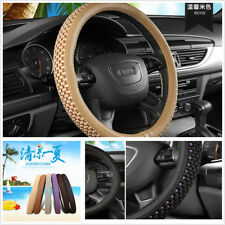 38cm Breathable Microfiber Leather Ice Silk Steering Wheel Cover for Summer