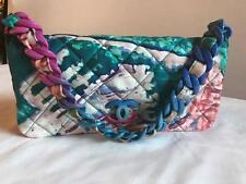 Chanel Printed Nylon Quilted Shoulder Flap Bag Italy 101