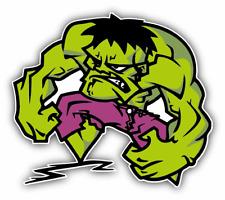 Hulk Angry Cartoon Car Bumper Sticker Decal 5''x 4''