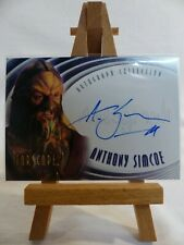 Farscape Season 1 Autograph Card Auto A2 Anthony Simcoe as Ka D'Argo