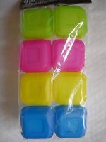 8 Multi Colour Plastic Food Containers Baby Mini Weaning Freezing Pots UK