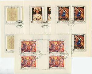 Czechoslovakia 2043-2046 sheets,CTO.Mi 2294-2297 klb. Paintings 1975.