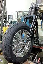 "4"" Under Black Springer Forks,Brake,Axle Front End Kit w 150 Tire @ 60-Spoke Rim"