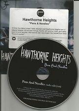 HAWTHORNE HEIGHTS Pens & Needles EDIT CARDED EUROPE PROMO CD Single USA seller