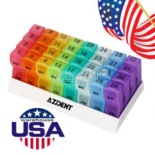 Medicine Container Holder Tablet Pill Sorter Organizer 7/31days Box plastic