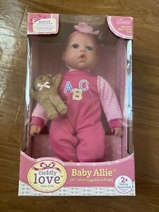 "love baby dolls Baby Allie 16""/ 40cm huggable soft baby. Kingstate the Dollcraft"