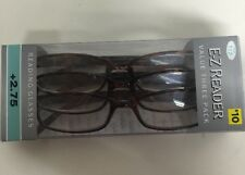 LOT OF 9 FOSTER GRANT HADLEY TORTOISE READING GLASSES +2.75 NEW