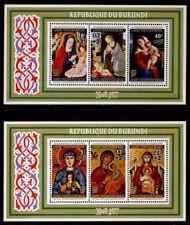 Burundi B76a, CB46a MNH Christmas, Art, Paintings