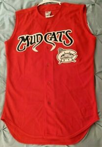 Carolina Mudcats GAME WORN Minor League Rawlings Baseball Jersey Sz. 44