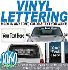 """4"""" High by Up to 48"""" Long / VINYL LETTERING / Sold Per Line / Custom Text Decals"""