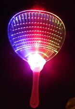 Lot 4 Plastic Colorful LED Chinese  Fan Light Up Flashing Toys Party US Seller