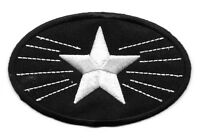 Star - White Star - Shining Star - Embroidered Iron On Patch - Elvis Memory
