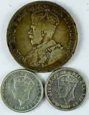 3-  Newfoundland Silver Coins, 2- 10 Cents KM#20/20a & 50 Cents KM#12,   #A90