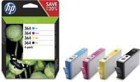 HP 364 4er-Pack Original Tintenpatronen (Photosmart, Deskjet, Officejet) Sparset