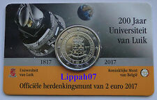 België speciale 2 euro 2017 Universiteit Luik in Coincard Vlaams