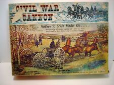 Vintage Marx Toys Authentic Scale Model Kit Civil War Cannon w/Box Unassembled