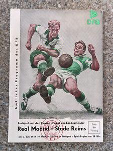 1959 - EUROPEAN CUP FINAL PROGRAMME - REAL MADRID v STADE REIMS - ORIGINAL