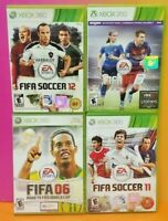 XBOX 360 Sport Game Lot FIFA Soccer 11 12 16 06 Road to World Cup Tested EASport