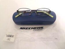 Sketchers SK1016 Boys Black Green Eyeglass Frames Full Rim 44-15-125 New w/ Case