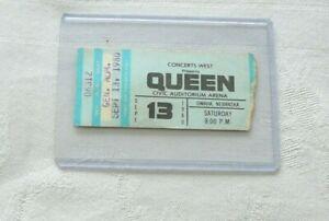 QUEEN SEPT 13 1980 OMAHA  SHOW TICKET STUB  WITH BONUS GIFT