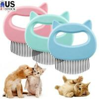 Dog Cat Comb Grooming Massage Brush Hair Removal Cleaning Tool Pets Fur Cleaner